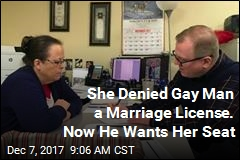 She Denied Gay Man a Marriage License. Now He Wants Her Seat