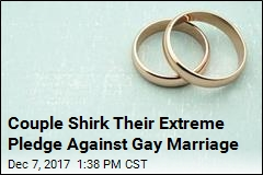 Man Backpedals on Vow to Divorce Wife Over Gay Marriage