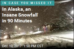 In Alaska, an Insane Snowfall in 90 Minutes