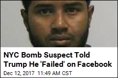 NYC Bomb Suspect Updated Facebook With Trump Taunt