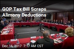 GOP Tax Bill Scraps Alimony Deductions