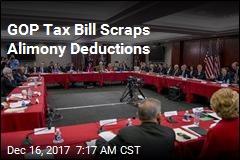 GOP Tax Bill Scraps Alimony Deductions