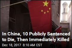 In Front of Stadium Crowd in China, 10 Sentenced to Die
