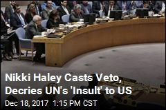 US Vetoes UN Resolution on Jerusalem, Calls It an 'Insult'
