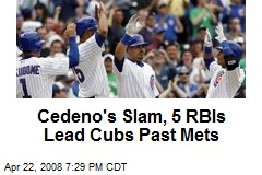 Cedeno's Slam, 5 RBIs Lead Cubs Past Mets