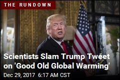 Trump: We Could Use Some 'Good Old Global Warming'