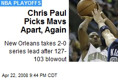 Chris Paul Picks Mavs Apart, Again