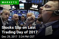 Stocks Slip on Last Trading Day of 2017