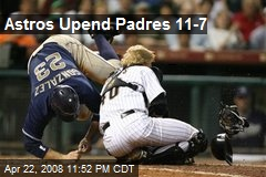 Astros Upend Padres 11-7