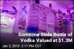 Bar Says World's Most Expensive Bottle of Vodka Stolen