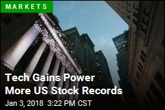Tech Gains Power More US Stock Records