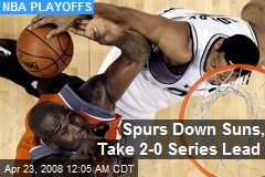 Spurs Down Suns, Take 2-0 Series Lead