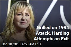 Grilled on 1994 Attack, Harding Attempts an Exit