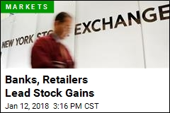 Banks, Retailers Lead Stock Gains