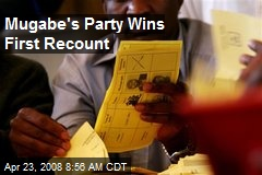 Mugabe's Party Wins First Recount
