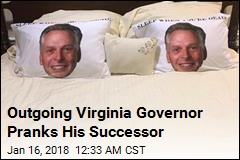 Outgoing Virginia Governor Pranks His Successor