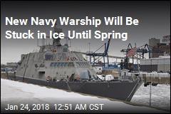 New Navy Warship Is Trapped by Ice in Canada