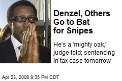 Denzel, Others Go to Bat for Snipes