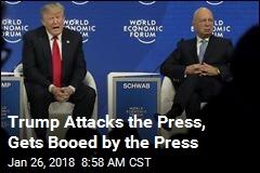 Trump Blasts 'Vicious' Press in Davos Q&A