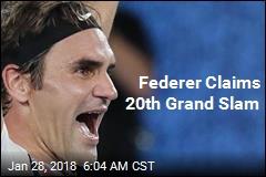 Federer Claims 20th Grand Slam