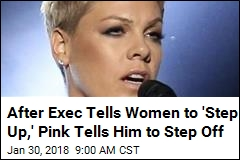 Pink Sees Red Over Exec Saying Women Need to 'Step Up'