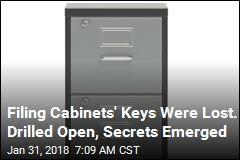 Filing Cabinets' Keys Were Lost. Drilled Open, Secrets Emerged