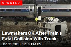 Train With Republican Lawmakers Hits Truck