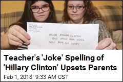 Teacher Opts for Problematic Spelling of 'Hillary Clinton'