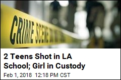 2 Teens Shot in LA School; Girl in Custody