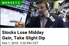 Stocks Lose Midday Gain, Take Slight Dip