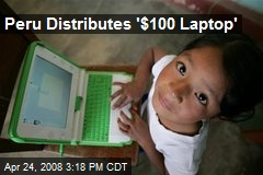 Peru Distributes '$100 Laptop'
