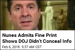 Nunes Admits Fine Print Shows DOJ Didn't Conceal Info