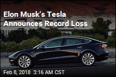 Elon Musk's Tesla Announces Record Loss