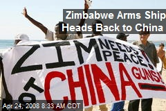 Zimbabwe Arms Ship Heads Back to China