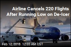 Southwest Cancels 220 Flights After Running Out of De-Icer