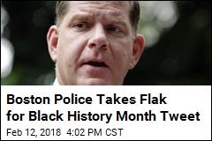 For Black History Month, Boston Cops Celebrate White Coach