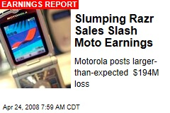 Slumping Razr Sales Slash Moto Earnings