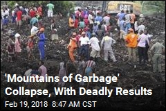 Rains Trigger Deadly Collapse of 3-Story-High Trash Heap
