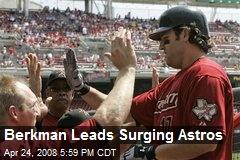 Berkman Leads Surging Astros
