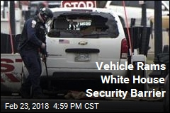 White House Locked Down When Vehicle Rams Barrier
