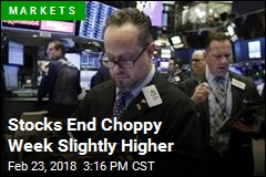 Stocks End Choppy Week Slightly Higher