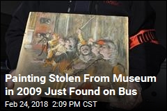 Stolen Painting Worth Nearly $1M Found on Bus