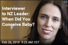 Interviewer to NZ Leader: When Did You Conceive Baby?