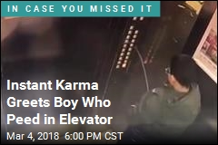 Instant Karma Greets Boy Who Peed in Elevator