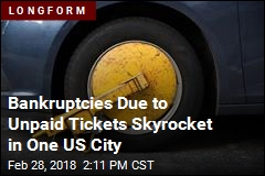 Bankruptcies Due to Unpaid Tickets Skyrocket in One US City