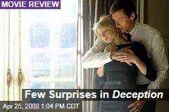 Few Surprises in Deception