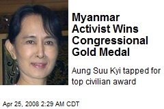 Myanmar Activist Wins Congressional Gold Medal