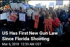 US Has First New Gun Law Since Florida Shooting