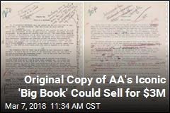 Original Copy of AA's Iconic 'Big Book' Going Up for Auction