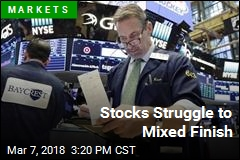 Stocks Struggle to Mixed Finish